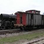 felújításra váró caboose